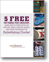 You'll love these 5 FREE crochet patterns on crochet embellishments.