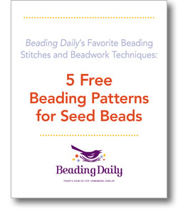 The free Beading Patterns for Seed Beads ebook comes with techniques for beading along with 5 free patterns.