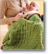 Crochet Cable Baby Blanket
