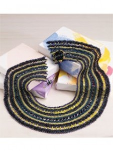 Space themed beaded collar