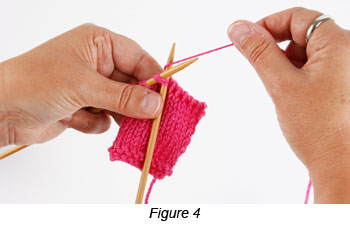 Learn how to bind off knitting by knitting through the front loops in the decrease, or loop, bind-off technique.