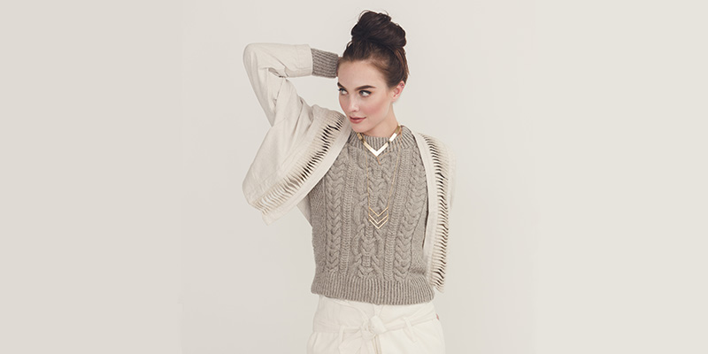 Pattern of the Week: Eira Pullover, the Cabled Masterpiece