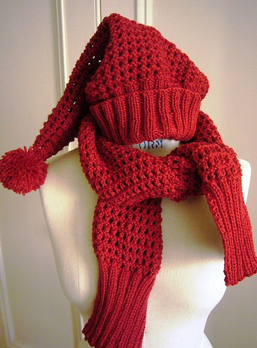 Elfin Hat knitting pattern Elfin scarf knitting pattern