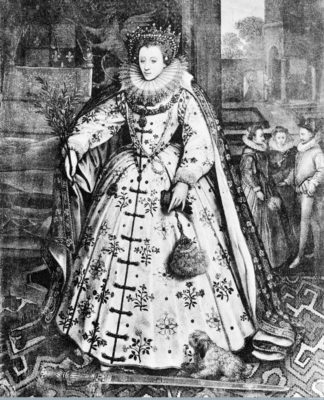 Portrait of Queen Elizabeth I at Wanstead Palace by Mark Gheeraedts (M0012869). Image courtesy of Wellcome Library, London.