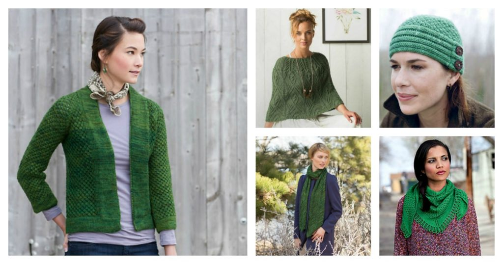 Knitting in Brilliant Green with the May Birthstone
