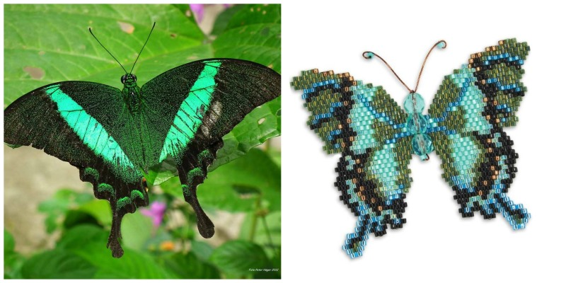 Get Inspired by Nature to Bead a Gorgeous Butterfly