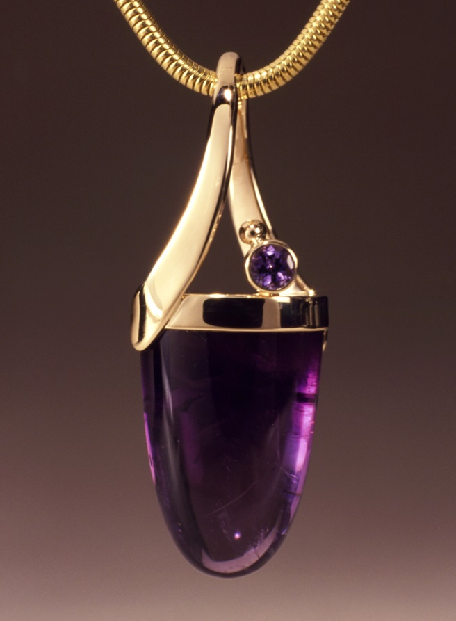 gemstone jewelry: Emily Chesick for Murphy Design amethyst pendant