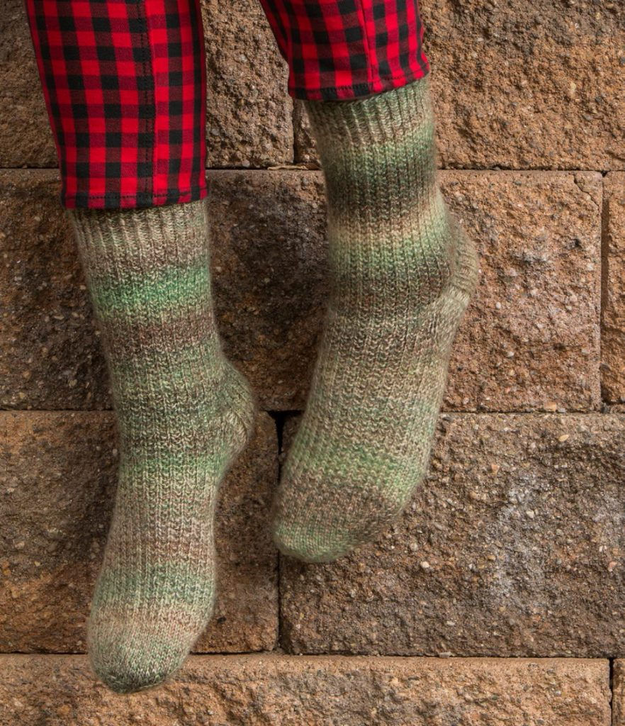 The top-down sock knitting pattern Enduring Socks is designed to last!
