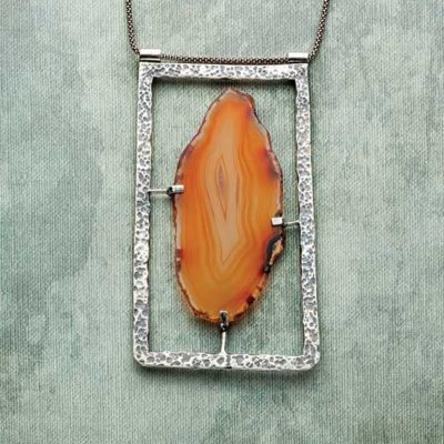 Stone Setting: Picture in a Frame Agate Pendant by Erica Stice