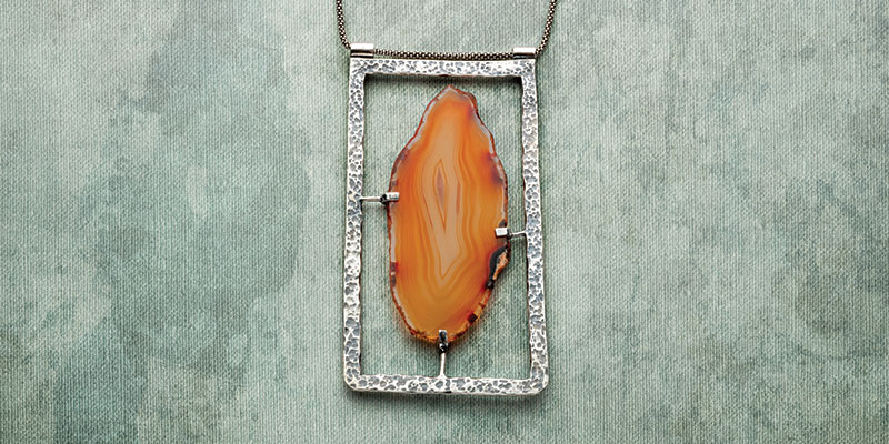Unique Stone Setting: Picture in a Frame Agate Pendant by Erica Stice