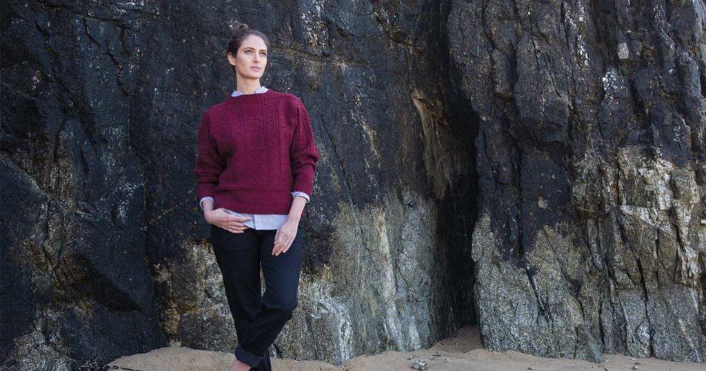 <em>Knitting Ganseys Revised and Updated</em>: Eriskay Gansey Pullover