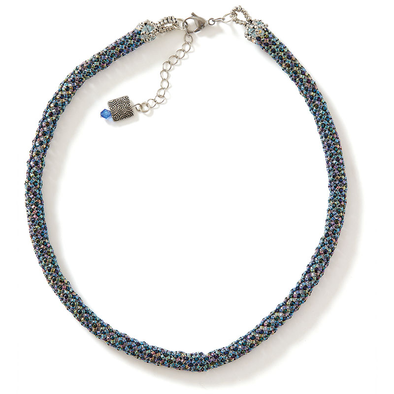 Ethereal Glow Necklace blue colorway