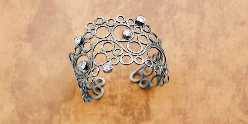 Rings Around Your Wrist: Airy Jump Ring Cuff Bracelet by Eva Sherman