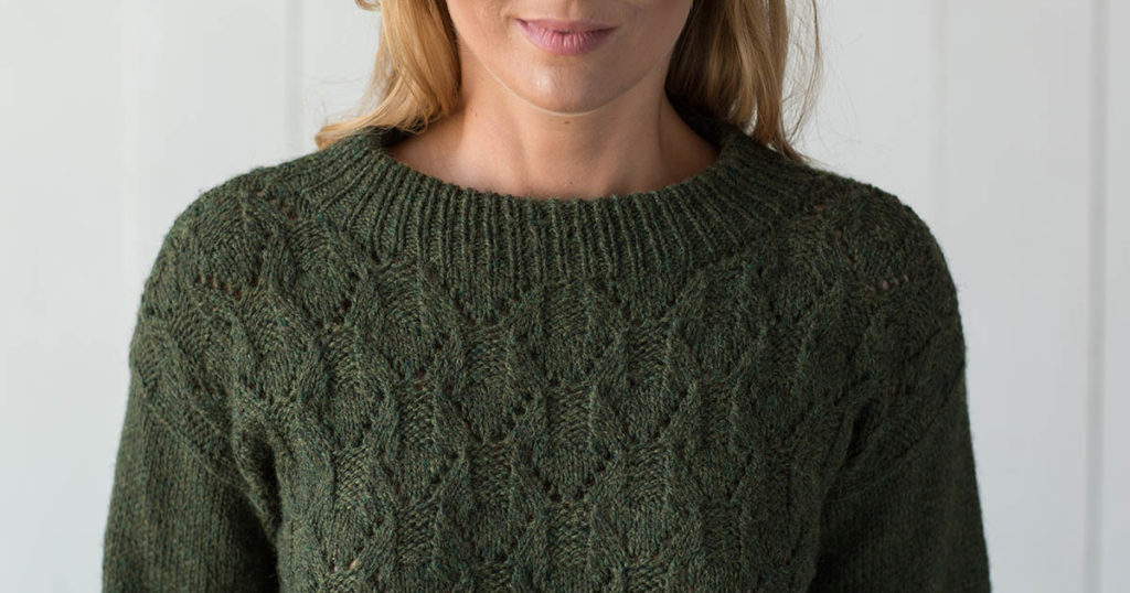 <em>Interweave Knits</em> Spring 2018: Evergreen Mountain Pullover