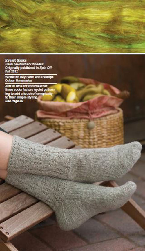 Eyelet Socks by Carol Huebscher Rhoades