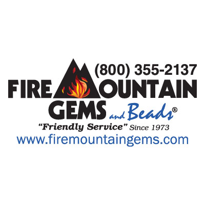 Fire Mountain Gems logo: Top beading website from Interweave.
