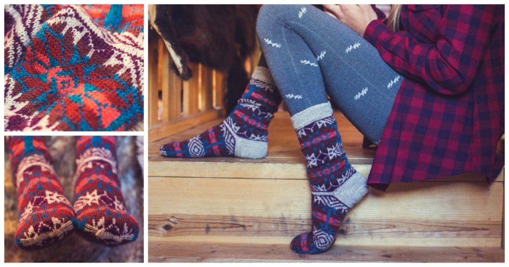 Meet the Stranded Colorwork Socks Your Glamping Dreams Are Made Of