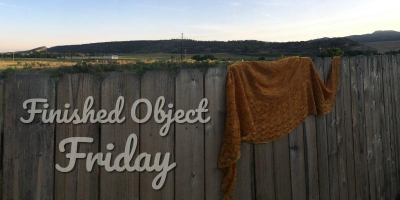 FO Friday: Andrea Finishes Her Helena's Shawl