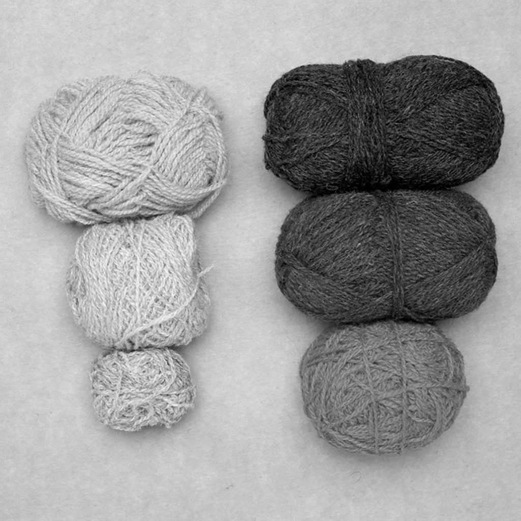 fair isle knitting color selection