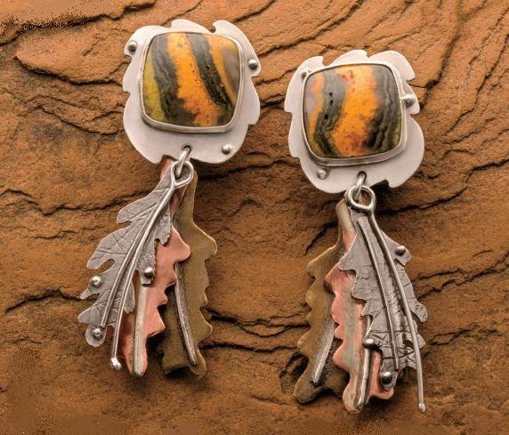 Falling Leaves earrings by Lexi Erickson
