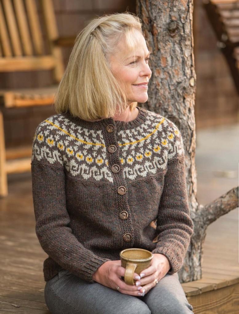 Halle Yoke Cardigan seamless pattern