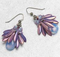 shaped bead Fan Flower Earrings