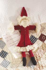 Learn how to make this free knitted toy pattern, Father Christmas.