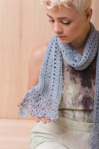Feathery Scarf with Lace Edging Crochet Pattern
