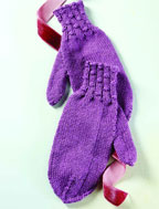 Easy Free Knitting Patterns: Women's Knitted Mitten Pattern