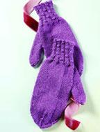 Easy Free Knitting Patterns: Women's Knitted Mitten Pattern