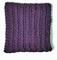 Swatch back example of a fabric have reversible cables on each side