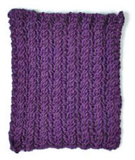Swatch front example of a fabric have reversible cables on each side.