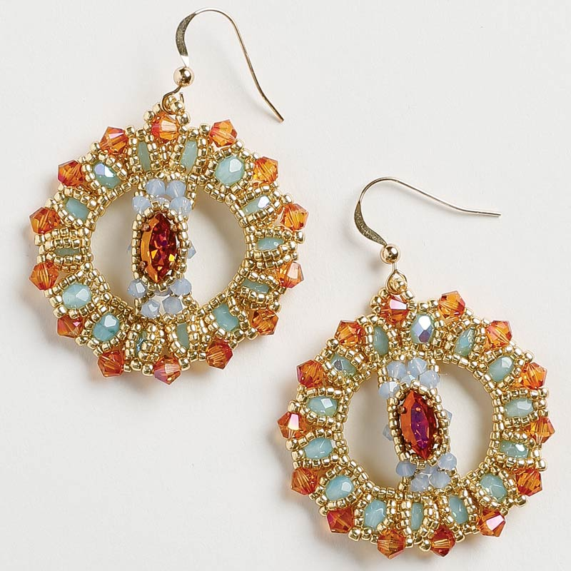 How to Stitch Variations of Peyote Stitch: What You Need to Know. Fire and Ice peyote earrings