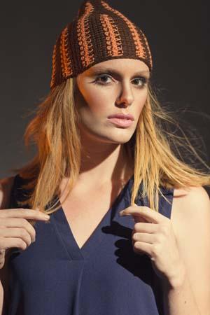 Flame Hat Tunisian Crochet