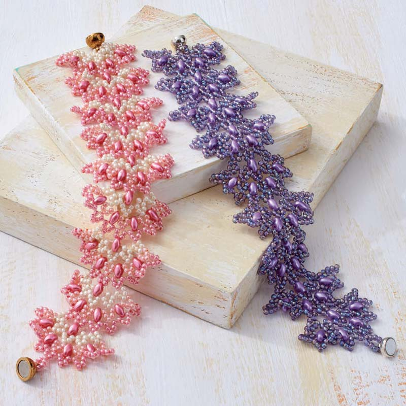 5 star pattern collection, Flamenco bracelet beading pattern
