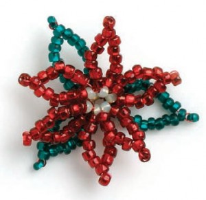 The Fleur Russe is a beaded flower pattern found in our free Beaded Ornaments eBook.