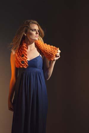 Flickering Scarflette Crochet Scarf