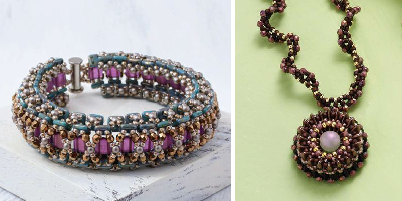 How to Create Beautiful Beaded Floral Patterns Using Crescent-Shaped Beads