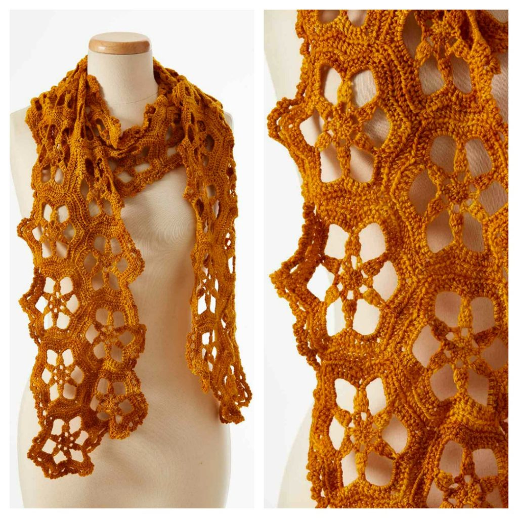 Watch Your Crochet Bloom With Flower Motif Scarf Patterns Interweave