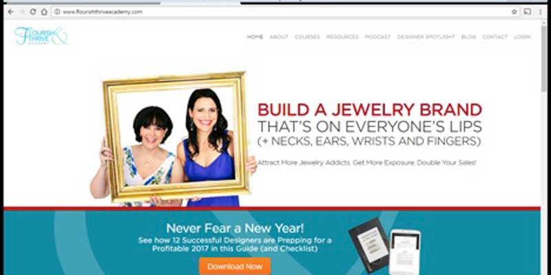 Flourish & Thrive Academy help you reach new goals with your handmade jewelry making business.
