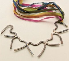 Forged Hearts necklace by Linda Larsen