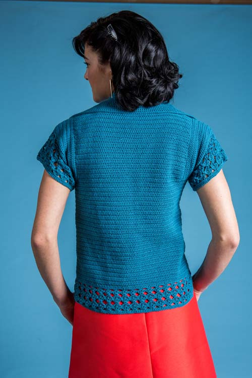 Forget-Me-Not Cardi Back