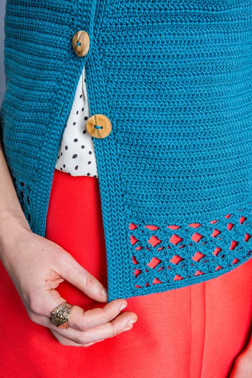 Forget-Me-Not Cardi Edging