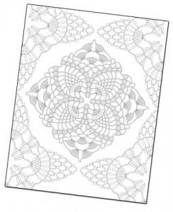 Free Crochet Coloring Page