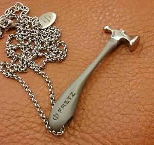 miniature Fretz hammer pendant