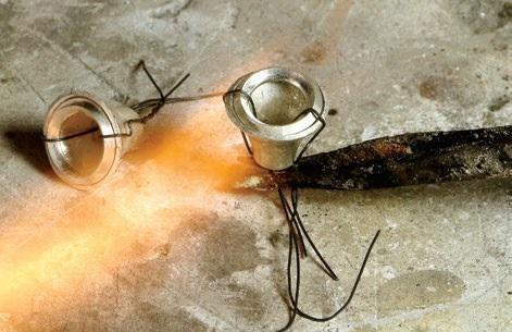 metalsmithing tutorial: how to make a hammered wire cuff by Bill Fretz