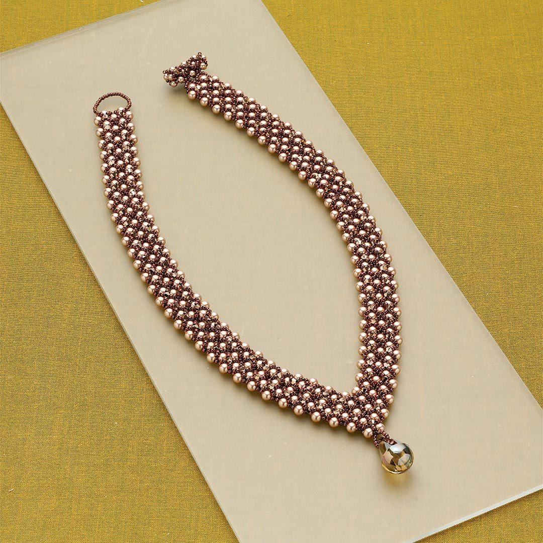 bead weaving: Leslee Frumin's Empress Catherine Collar