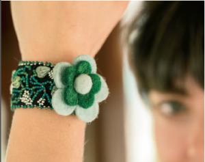 Fun Flower Bracelet by LouAnn Elwell