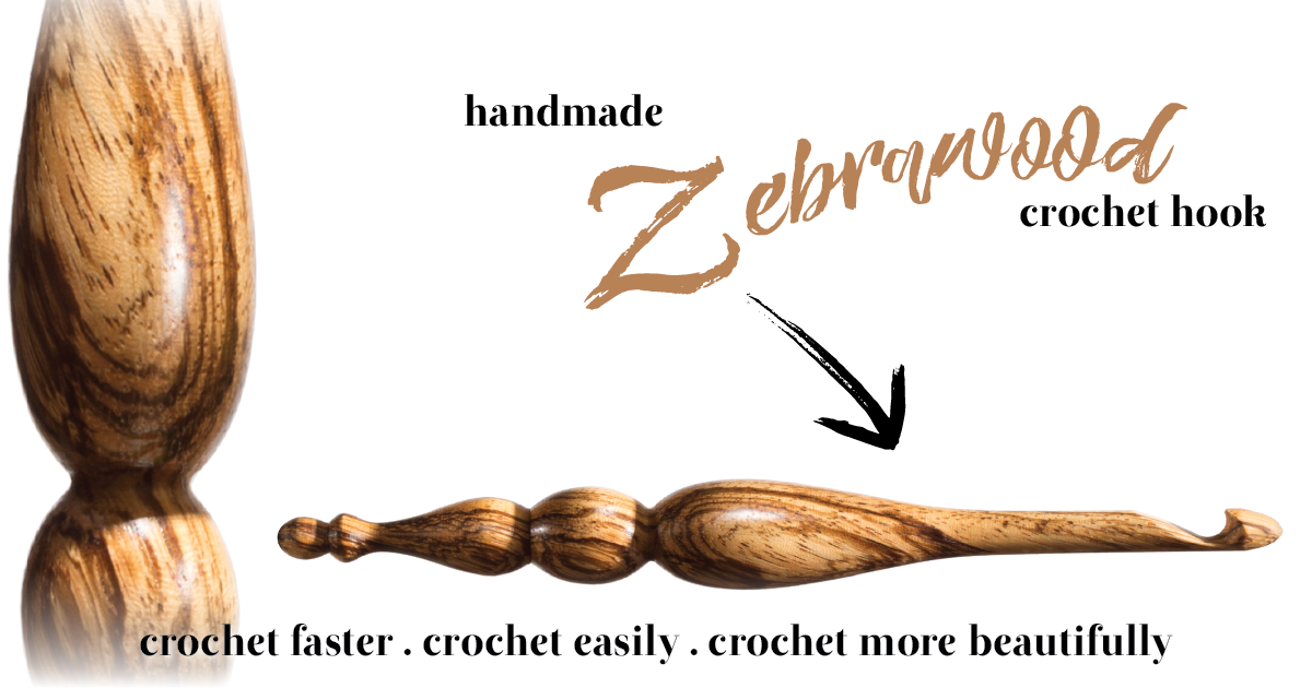 Furls Crochet Wild Wednesday: Your Zebrawood Hook Awaits!