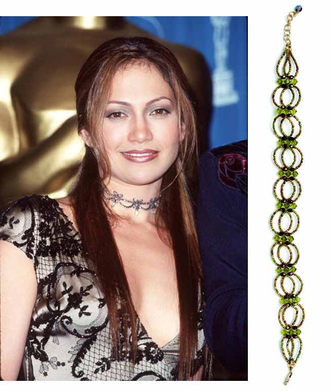 Jewelry Trends Report and Free Beaded Choker Necklace Projects. The 90's was a great decade for our favorite fly girl. Channel her confidence and bead the Green Goddess necklace.